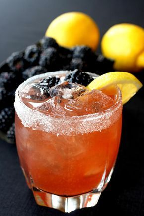 Blackberry Whiskey Sour uses blackberry brandy for extra sweetness. No need for simple syrup.