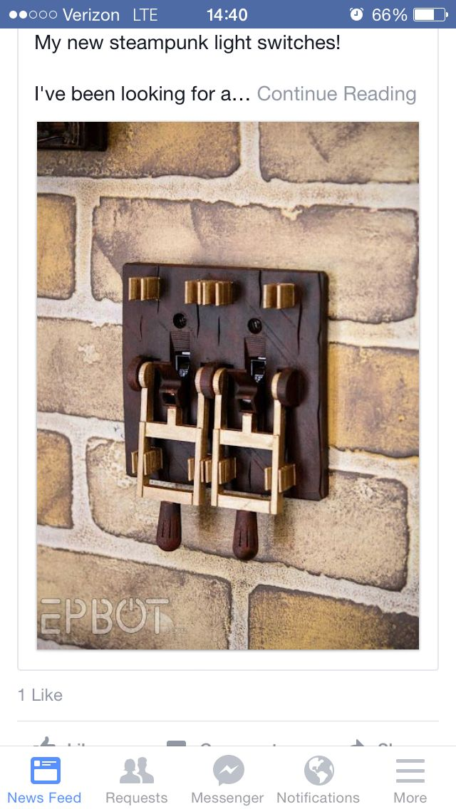 Omg! Most awesome light switches ever!