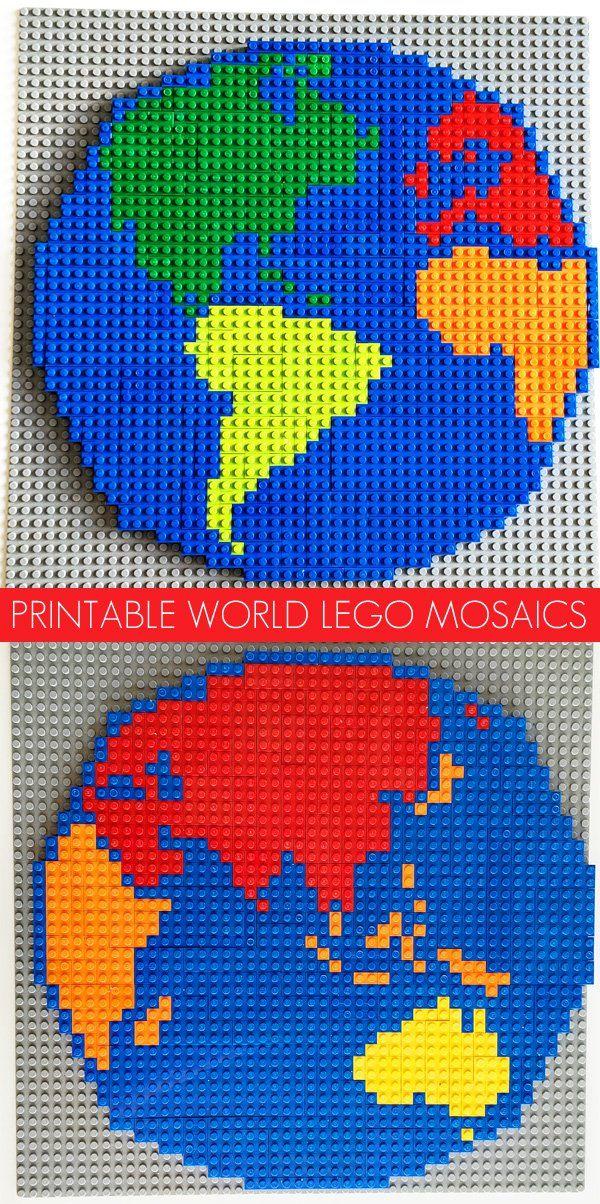 Lego Activity Ideas World Mosaic Patterns 152