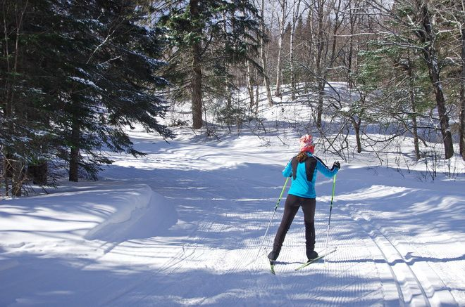 Cross country Skiing at Mont Sainte-Anne on hikebiketravel.com