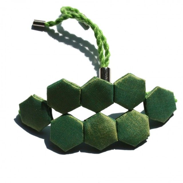 Geometric fresh green bracelet by Scandinavian jewellery designer KGH Accessories - Nordic Design Collective