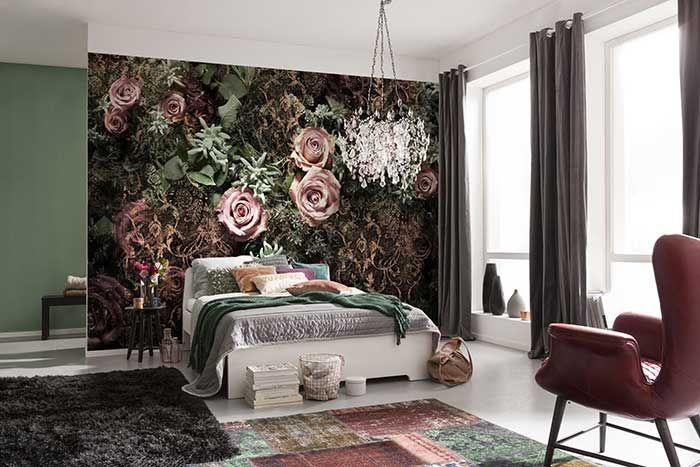 Fotomurale Rose e Pizzi ǀ Gigantografia per pareti - Spidersell Italia | Decorazione creativa
