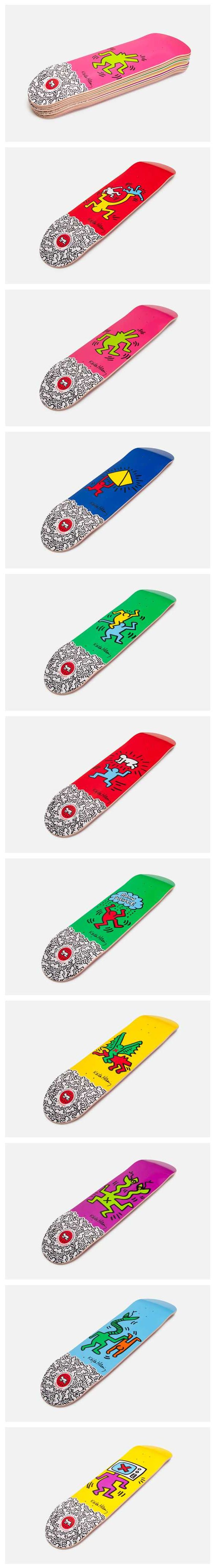 All of a sudden, I want to skateboard.     KEITH HARING X ALIEN WORKSHOP, SKATEBOARD DECK COLLECTION: how could you pick just one?