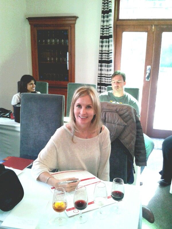 Blind tasting at intro to wine course, Cape Wine Academy, Durban, South Africa.