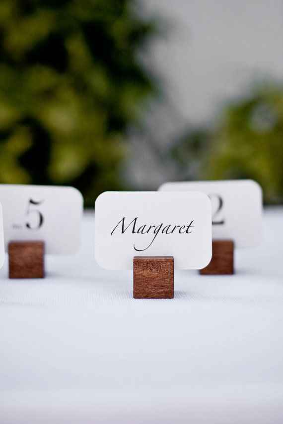 Wooden Square Name Card Holders Set Of 6 By Tuckandbonte On Etsy 2400