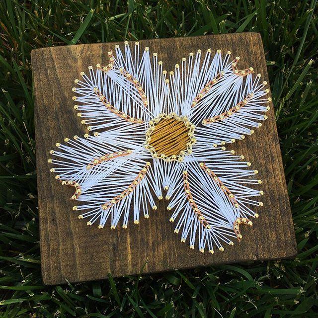 Dogwood flower string art by  nailedit__byjj
