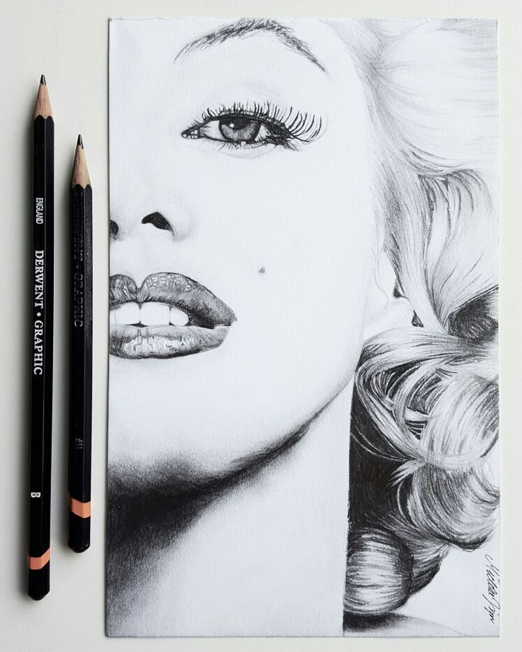 My pencil drawing of Marylin Monroe
