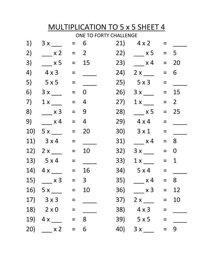 3rd Grade Multiplication Worksheets Multiplication