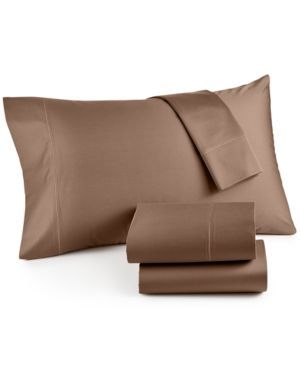 Hotel Collection 525 Thread Count Cotton Extra Deep Twin Xl Sheet Set – Brown