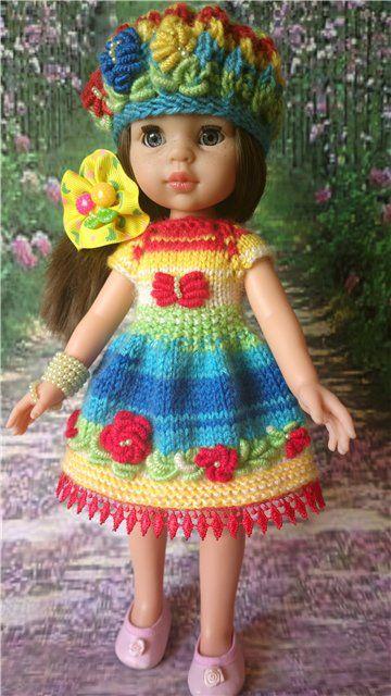 """Наряд для куклы """"Радужный"""". 30-33см. / Одежда для кукол / Шопик. Продать купить куклу / Бэйбики. Куклы фото. Одежда для кукол"""