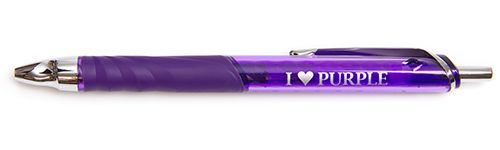 """I Heart Purple"" Purple Pen with Purple Ink, Gel Pens"