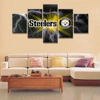 Pittsburgh Steelers Football Canvas Print Wall Art Five Piece Home Decor