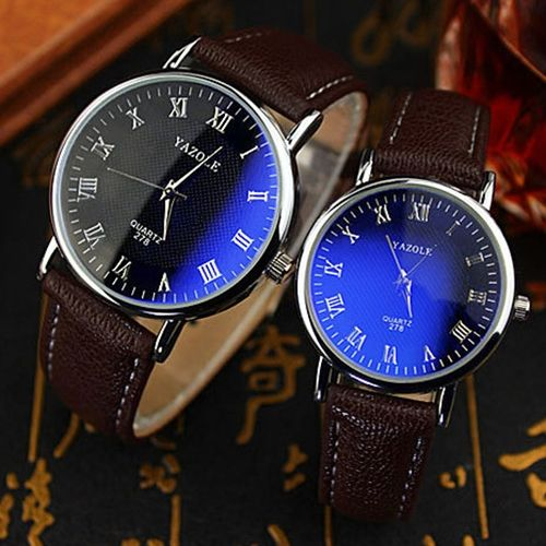 1.85$  Watch now - http://alihd0.shopchina.info/go.php?t=32760534827 - 2015 New Couple Wrist Watch Office Men's Women's Blue Light Glass Roman Numerals Analog Quartz Wrist Watch 6U7H 1.85$ #magazineonline