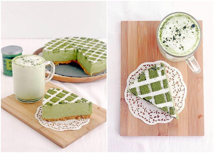 Foodagraphy. By Chelle.: Matcha Tofu Cheesecake 豆腐チーズケーキ