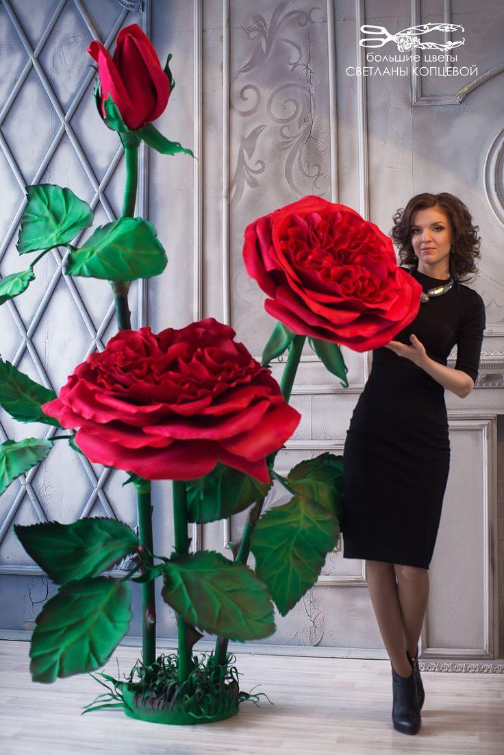 Obří červené růže * z papíru ♥♥♥