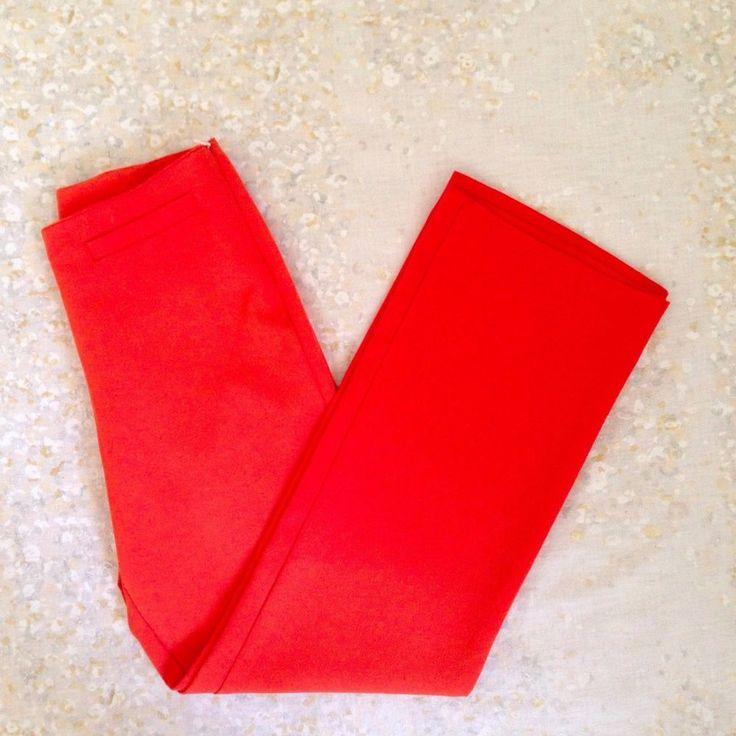VTG 70's Morgan De Toi Women's High Waist Polyester Pants Orange Side Zip XS  #MorganDeToi #Casual