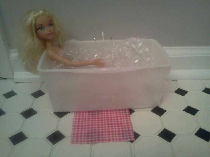 Barbie Bath Tub I Used Huggies Baby Wipe Container