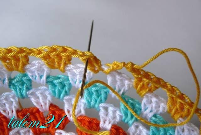 Смена цвета в вязании ( для начинающих) - Ярмарка Мастеров - ручная работа, handmade