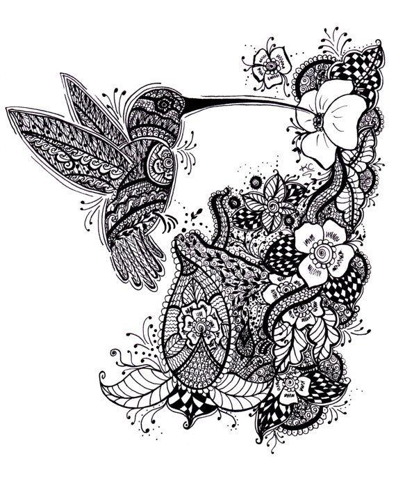 Mehndi Hummingbird Design Henna Hummingbird Hennastyle