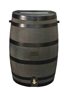 New Amazon RTS Home Accents Gallon Rain Water Collection Barrel with Brass