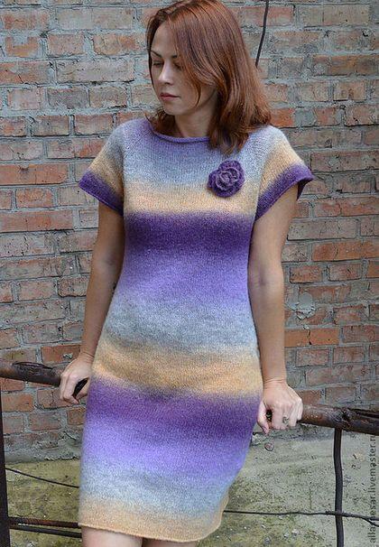 """Платья ручной работы. Платье """"Сиреневый туман"""" (Кауни). Аll@. Ярмарка Мастеров. Платье шерстяное, туника из шерсти"""
