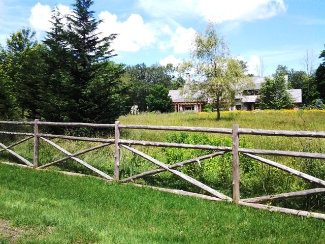how to build a cross rail fence