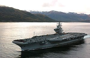 USS Ronald Reagan. Want to take my dad to see it
