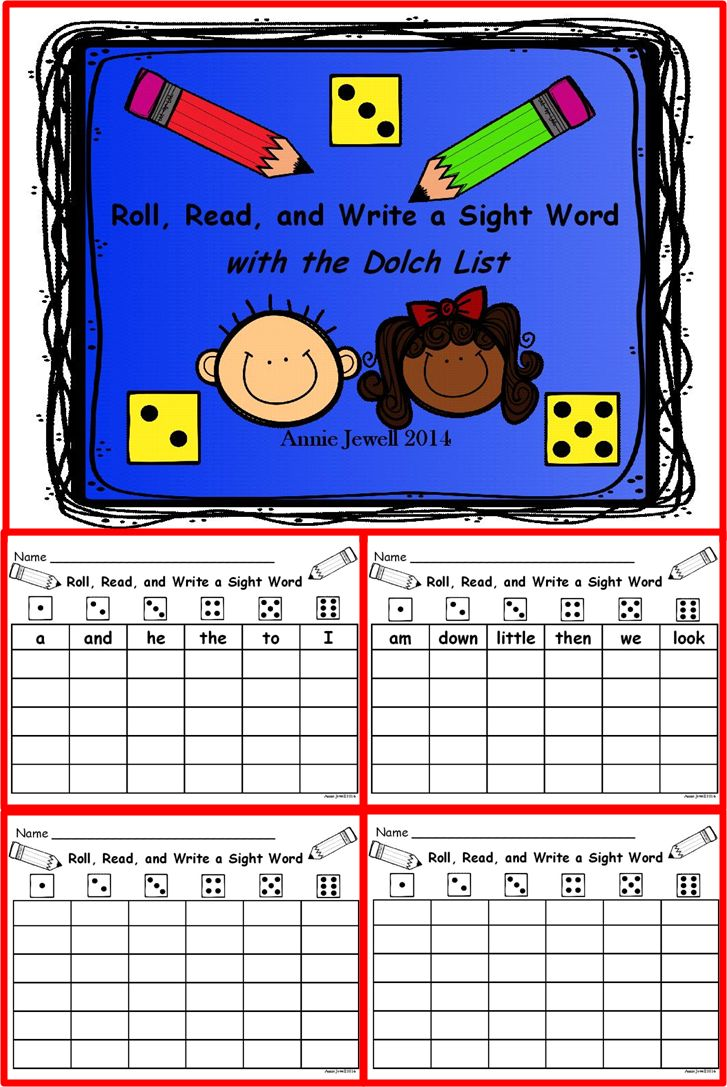 All 220 Dolch Words***44 Cards in All***Use in a Literacy Center in Kindergarten or 1st Grade***Enough cards for the whole year if you rotate centers weekly