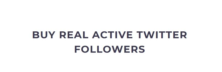 Buy Real Twitter Followers   Active   Organic   Reliable   Safe