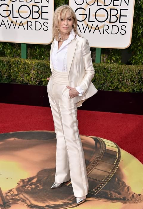 Judith Light in a white pants suit at the 73rd Annual Golden Globe Awards 1/10/16