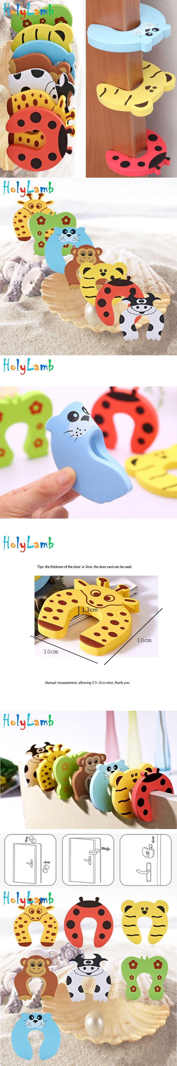 7Pcs Lot Animal Baby Security Door Card Protection Tools Baby Safety Gate Products Newborn Care