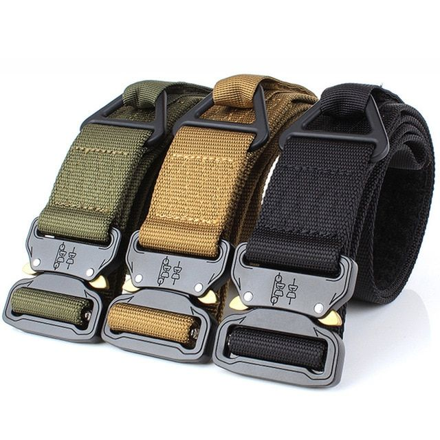 Lixada Adjustable Men Tactical Belt Heavy Duty Waist Belt