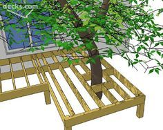 Framing a Deck Around a Tree - Decks.com