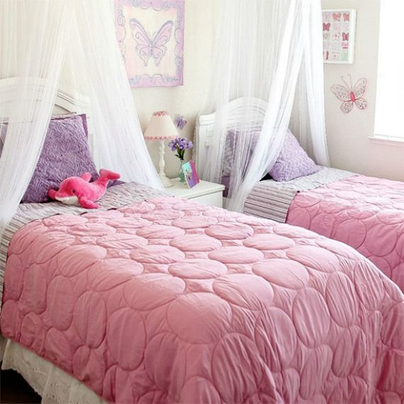 Pink and Purple Bedroom for Girls. This pink and purple butterfly ...