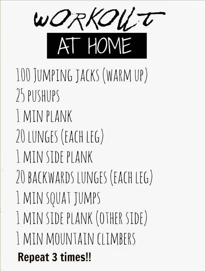 Workout At Home | FITNESS | Pinterest