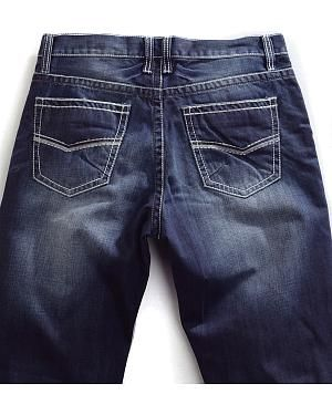 Tin Haul Mens Regular Joe Straight Leg Contrast Stitch Jeans: 100% Cotton denim. Five pocket… #CowboyClothing #Westernwear #CowgirlBoots