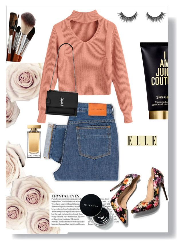 """""""Rose pale"""" by humbertmonica on Polyvore featuring moda, PS Paul Smith, Yves Saint Laurent, Juicy Couture y Dolce&Gabbana"""