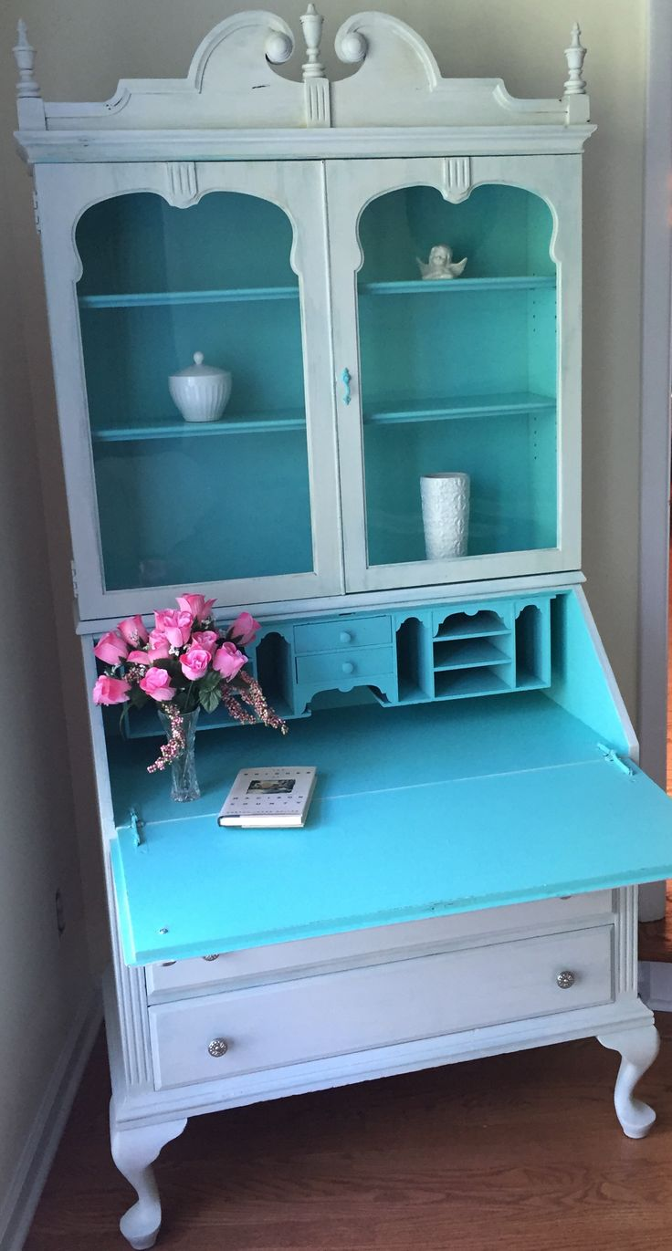 Beautiful secretary in shades of teal and grey. $450