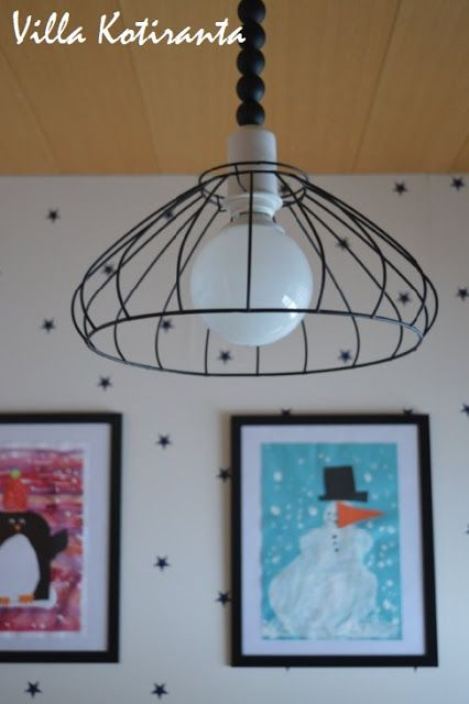 DIY: Kattovalaisin lastenhuoneeseen edullisesti. / Ceiling light for children's room with low costs.