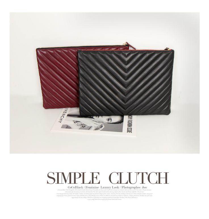 korean fashion online store [COCOBLACK] LAURENT Clutch / Size : FREE / Price : 104.60 USD #korea #fashion #style #fashionshop #cocoblack #missyfashion #missy #bag #clutch