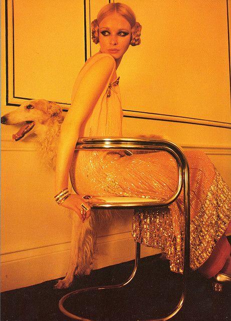 '1960's Deco' - Norman Parkinson for Vogue, 1969.