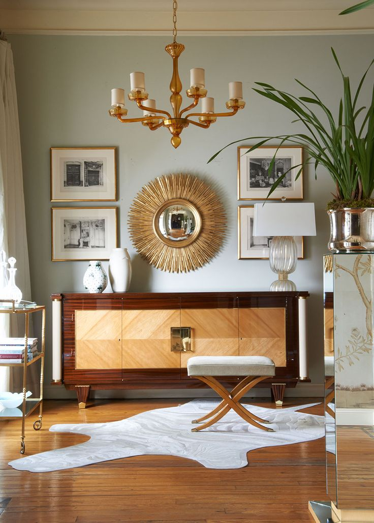 Jan showers mirror and console table
