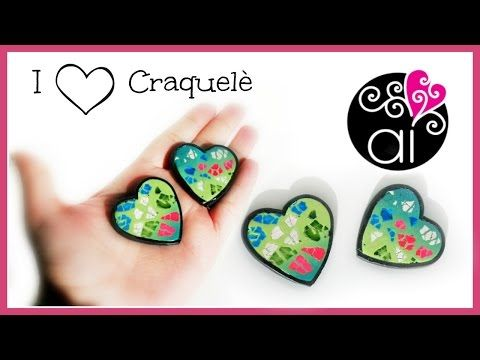 I love Craquelè | Polymer Clay Tutorial | DIY Cracke Effect | Valentine's day Ideas - YouTube
