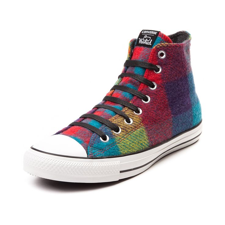 Don't let cold weather cramp your style this season, look to the cozy new  Converse Chuck Taylor Woolrich Sneaker! The Converse All Star Hi Woolrich  rocks a ...