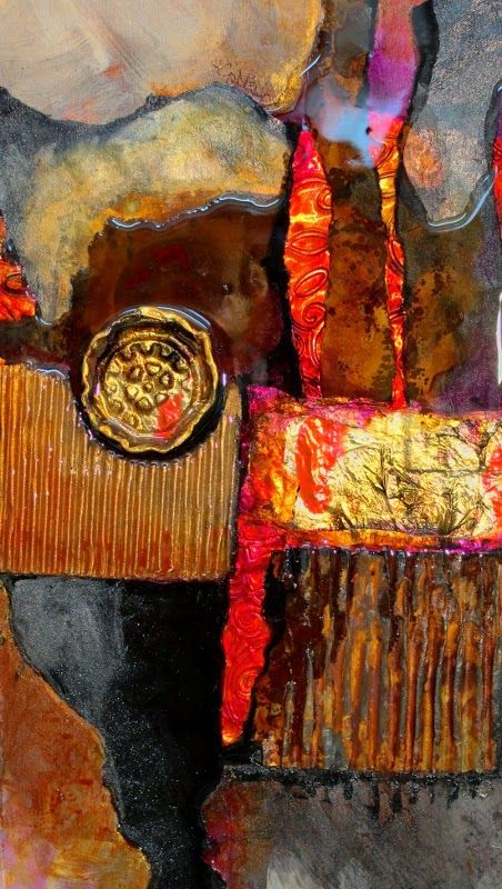 "CAROL NELSON FINE ART BLOG - detail of ""Medallion"""
