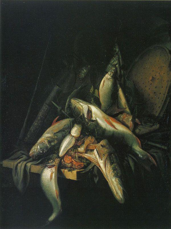 Jacob Gillig - Still Life of Fish, 1670
