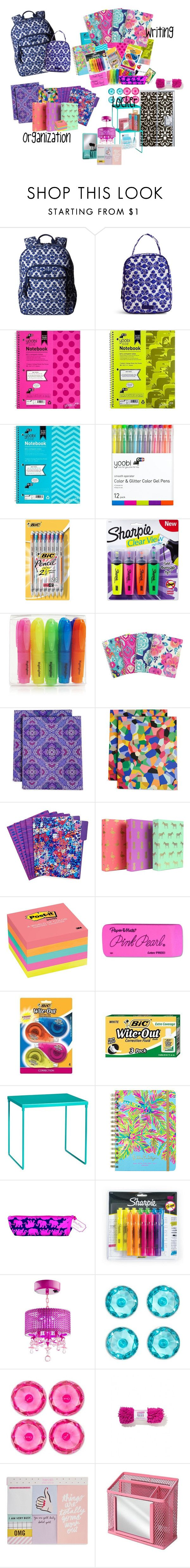 """""""Layla's School Supplies"""" by dreamfamily ❤ liked on Polyvore featuring Vera Bradley, Yoobi, BIC, Sharpie, Post-It, Paper Mate, Lilly Pulitzer, ban.do, U Brands and TheSanchezFamily"""