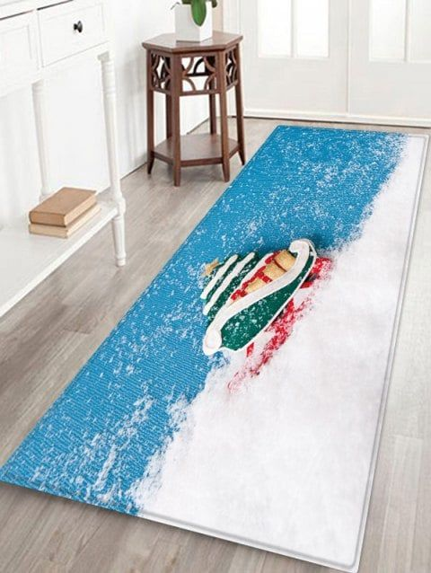 Christmas Snow Pattern Water Absorption Area Rug In 2018 Walk On Me Pinterest And Rugs