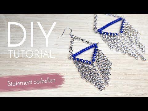 Sieraden maken met Kralenwinkel Online - Statement oorbellen - YouTube