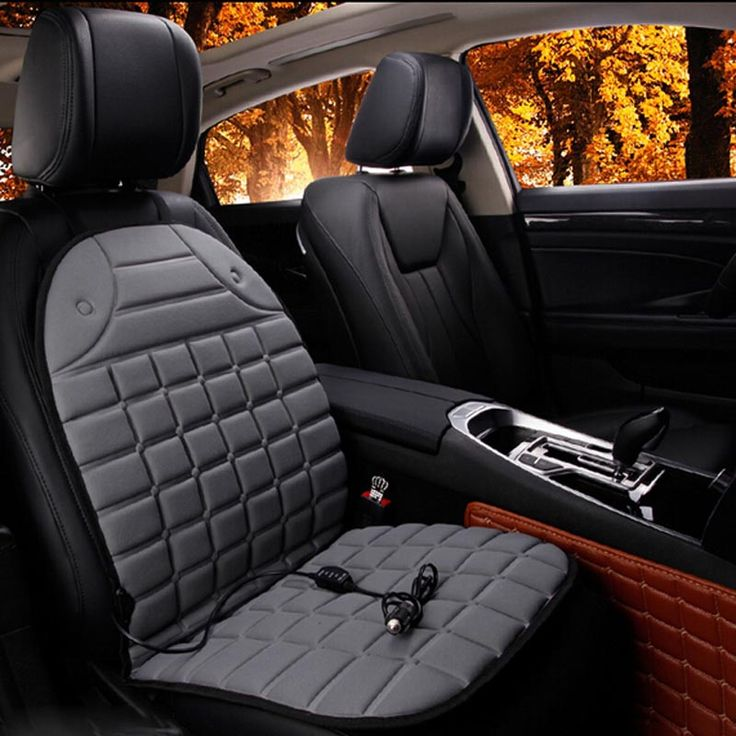Electric Heated car seat Cushion Winter Car seat Pad  Car Heated Seat Covers Universal Conjoined Supplies Black Gray  Price: 14.64 USD